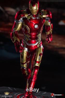 Roi Arts Dfs009 1 / 9e Iron Man Mk43 Diecast Figure Ensemble Complet Toy