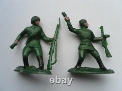 Soviet Vintage Ensemble Complet De Jouets Soldats Dans La Bataille Des Années 1980 Mega Rare Nos