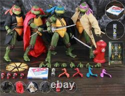 Teenage Mutant Ninja Turtles 1990's Movie 7 Action Figure Toys 4 Pcs Set Toys