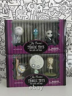Tim Burtons Jouets Tragiques- Ensemble Complet De 12 Figurines En Vinyle