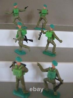 Timpo Toys Soldats Britanniques 1st Série Bérets Vert Ensemble Complet De Tous Les 6 E / X V / Rare