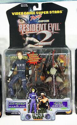 Toy Biz Resident Evil 2 Ensemble De Base Complet De 3 William G-3 Leon Claire Scellé 1998