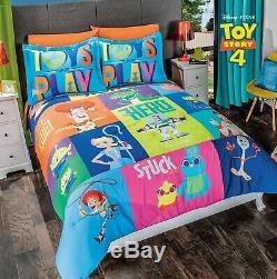 Toy Story 4 Original Kids Licence Réversible Ensemble Douillette 3 Pièces Full Size