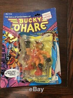 Vintage O Hare Bucky Figurines Lot Jouets Ensemble Complet Ouvert Avec Cardbacks