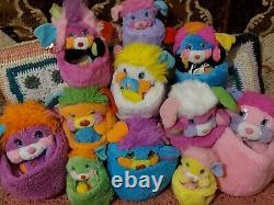Vintage Popples Full Set Peluche Job Lot 80s Soft Toy Popple Bundle Retro Rare