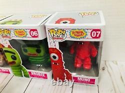 Yo Gabba Gabba Funko Pop Lot Complet Ensemble Complet Chiffres Téléviseur Toys Rare