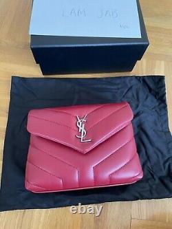 Ysl Saint Laurent Loulou Toy Red Tout Nouvel Ensemble Complet