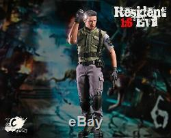 Zc Jouets 1/6 Chris Redfield Ensemble Complet Resident Evil Collection Figurine Toy